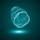Futuristic illustration - conceptual virus — Stock Vector
