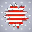 The abstract star with american flag — Stock Vector #48447117