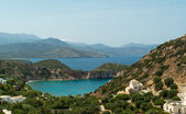 Small colourful bay near Istron — Stock Photo