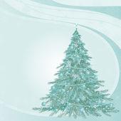 Von with fir-tree — Stock Vector