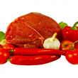 Royalty-Free Stock Photo: The fresh beef and paprika