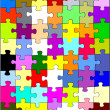 Puzzles rainbow — Stock Photo