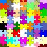 Puzzles rainbow — Stock Photo #41396837