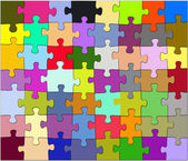 Colored puzzles — Stock Photo