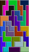 Tetris multicolored background — Stock Photo