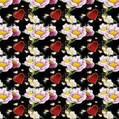 Seamless art pattern, bright, beautiful ornament — Stock Photo