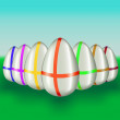 Color easter-eggs. Vector illustration. — Stock Vector #21573949