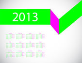 Abstract business calendar 2013 — Wektor stockowy