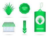 Special aloe vera design elements — Stock Vector