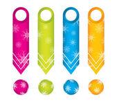 Adesivos especiais seta conjunto com bola de natal especial — Vetorial Stock
