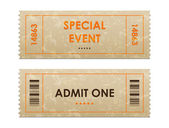 Biglietti d'ingresso — Vettoriale Stock