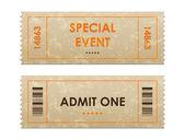 Eintrittskarten — Stockvektor