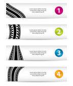 Banners with special tire design — Stock Vector