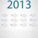Vector calendar 2013 — Stock Vector #13978519