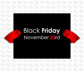 Trendy black friday banner — Stock Vector