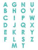 Vector scribbled alphabet with special design — Stock Vector
