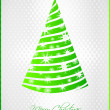 Stylized green Christmas card — Stock Vector