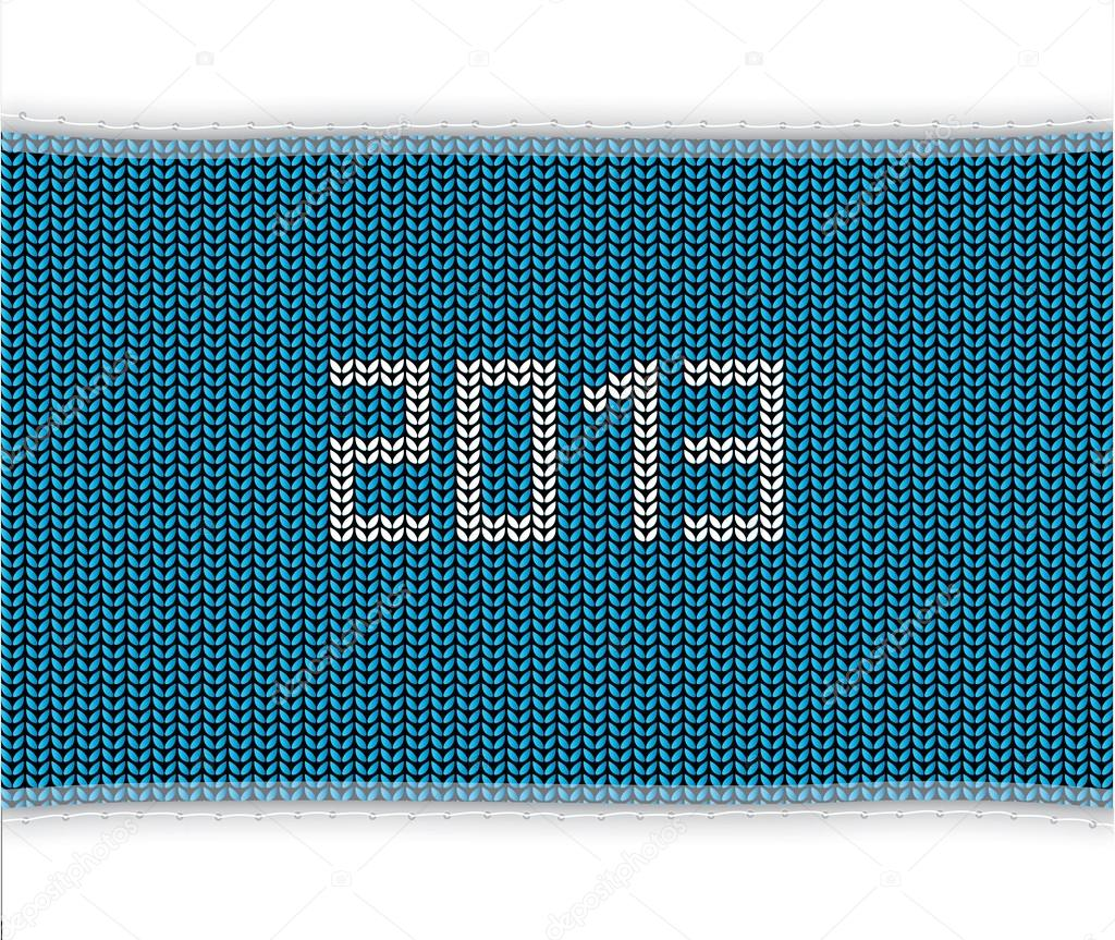 Special blue knitted background 2013 — Stock Vector #16936453