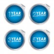 Special blue guarantee labels on white background - Stock Vector