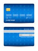 圣诞节设计与现实矢量信用卡 — 图库矢量图片