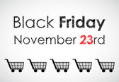 Special black friday banner for your website — Stock Vector