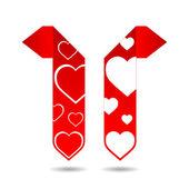 Abstract origami speech bubble with valentine — Vetor de Stock