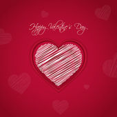 Valentines day card vector background eps 10 — Stok Vektör