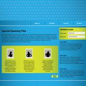 Website design template with special design — Stock Vector