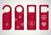 Door tags with Valentine's day design — Vettoriale Stock