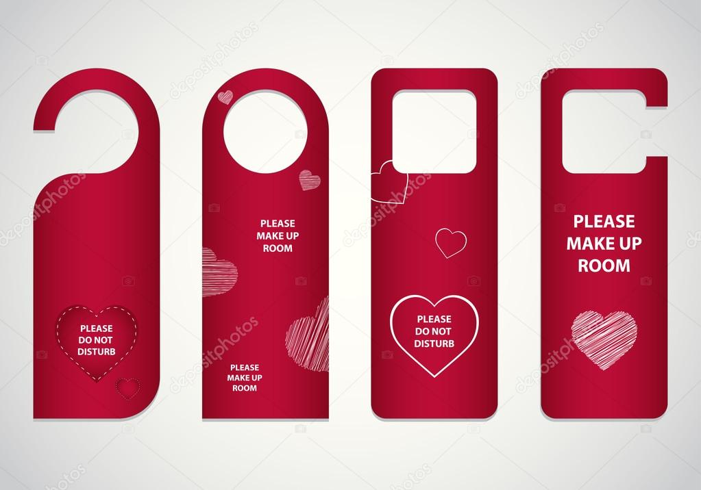 Door tags with Valentine's day design — Stock Vector #19221607