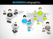 Geschäft infografiken mit speziellen geschäftsmann icons — Stockvektor
