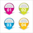 Set of four vector labels for various options — Stock Vector