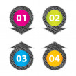 Set of four special label with sketch design — Stock Vector