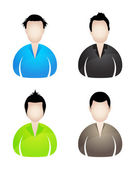 Four businessman icons — Stock Vector