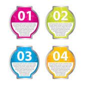 Set von vier vector grunge-aufkleber für verschiedene optionen — Stockvektor
