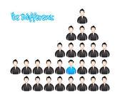 Ser diferente, vector ilustración con diseño especial — Vector de stock