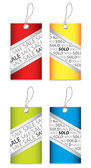 Price tag set with special design — Stock Vector