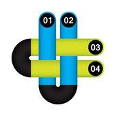 特別なデザインとモダンなインフォ グラフィック オプション — ストックベクタ