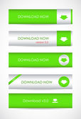 Special green website download buttons — Stock Vector