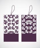 Etiquetas de precios con especial diseño floral — Vector de stock