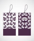 étiquettes de prix avec un design floral spécial — Vecteur