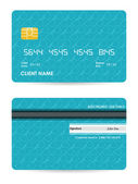 Vector illustration of detailed credit card with hipster design — Stock Vector