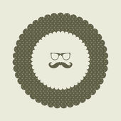 Special labels with hipster mustache — Stock Vector