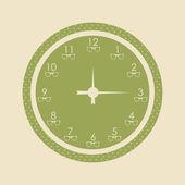 Special retro clock — Stock Vector