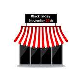Black friday shop icon with special design — Stock Vector