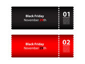 Black friday coupon — Stock Vector