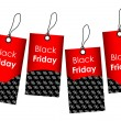 Stock Vector: Price tags with black friday design