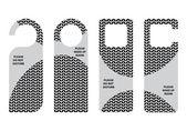Hotel do not disturb door hanger with special knitted design — Stock Vector