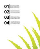 アロエベラ デザイン特別チラシ — ストックベクタ