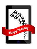 Mutlu doğum günü hediyesi ile özel tasarım — Stok Vektör
